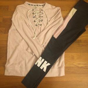 PINK shirt/leggings set
